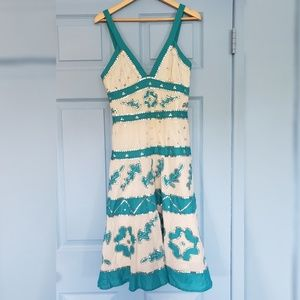 Stunning embroidered BCBG dress